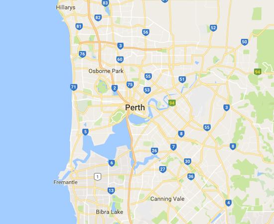 Map of Perth