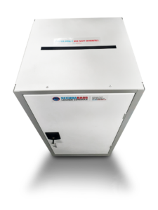 confidential paper waste console top
